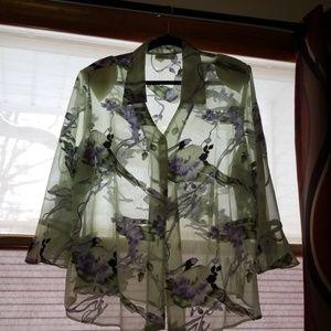 Sheer spring blouse